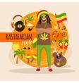 Rastafarian Character Pack For Man vector image