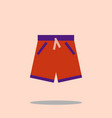 swim short icon swimming trunks flat design vector image