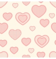 Old lace background seamless pattern with hearts vector image vector image