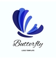 Butterfly logo design template vector image