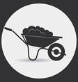 Garden wheelbarrow vector image vector image