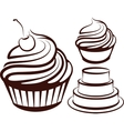 simple with desserts vector image