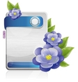 technology flowers vector image vector image