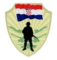 Army of Croatia vector image vector image