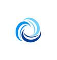 circle swirl abstract technology logo vector image