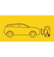 Concept Electric Car on batteries and Fuel vector image