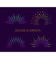 Fireworks design elements vector image