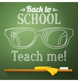Nerd glasses on the chalkboard with back to school vector image