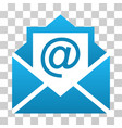 open mail gradient icon vector image