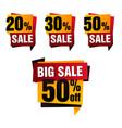 Sale paper banner sale background big vector image