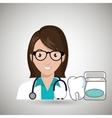 nurse tooth stethoscope mouthwash vector image