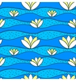 simple pattern with water lily vector image