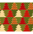 christmas tree green and red color abstract vector image