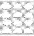 clouds big set vector image vector image