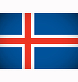 National flag of Iceland vector image