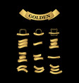 luxury golden premium label quality collection and vector image