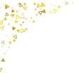 Gold glittering foil triangles on white background vector image vector image