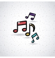 music notes design vector image