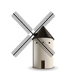 Windmill isolated on white vector image vector image