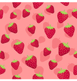 Strawberry Seamless Pattern Pink1 vector image