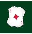 Ace of Diamonds vector image