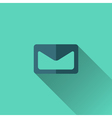 Blue envelope icon Flat design vector image