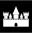 castle white color icon vector image