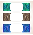 Colorful floral ornament banners vector image