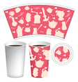 cup template vector image