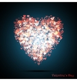 Valentines bokeh hearts Many of transparent vector image