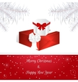 White Christmas card White Christmas tree vector image