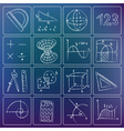 math icons chalky doodles vector image