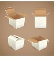 Box and package icons vector image