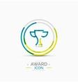 Award icon logo vector image vector image