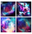 Set of triangle background with galaxy texture vector image vector image