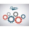 gears world design vector image
