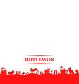easter hare meadow vector image