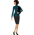 A woman in a office vector image