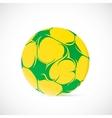 Artistic soccer ball vector image
