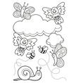 baby animals coloring book vector image