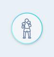 boxer icon linear pictogram vector image