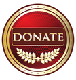 Donate Red Label vector image