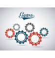 gears world design vector image