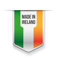 Made in Ireland flag ribbon vector image