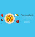 pizza ingredients banner horizontal concept vector image