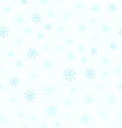 snowflake pattern seamless vector image