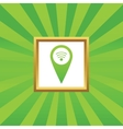 Wi-Fi pointer picture icon vector image