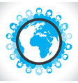 world people meeting concept vector image