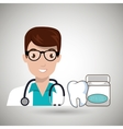 doctor tooth stethoscope mouthwash vector image
