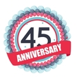Cute Template 45 Years Anniversary with Balloons vector image